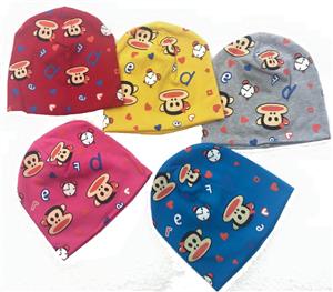Mũ cotton hình khỉ cho bé