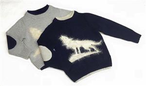 Áo len hình sói cho bé