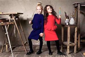 Bộ len quần váy DKNY cho bé